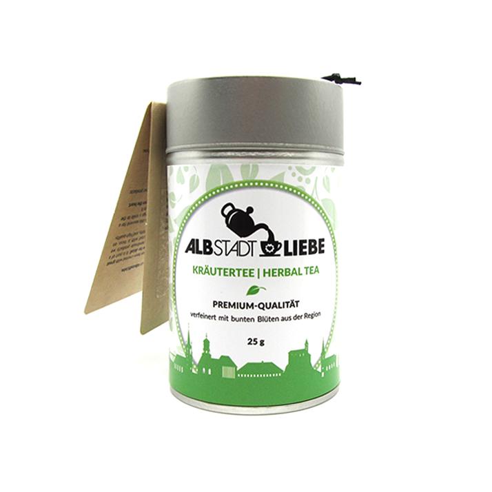Kräutertee / Herbal Tea. 25 Gramm. Premium Qualität. Verfeinert mit bunten Blüten aus der Region.