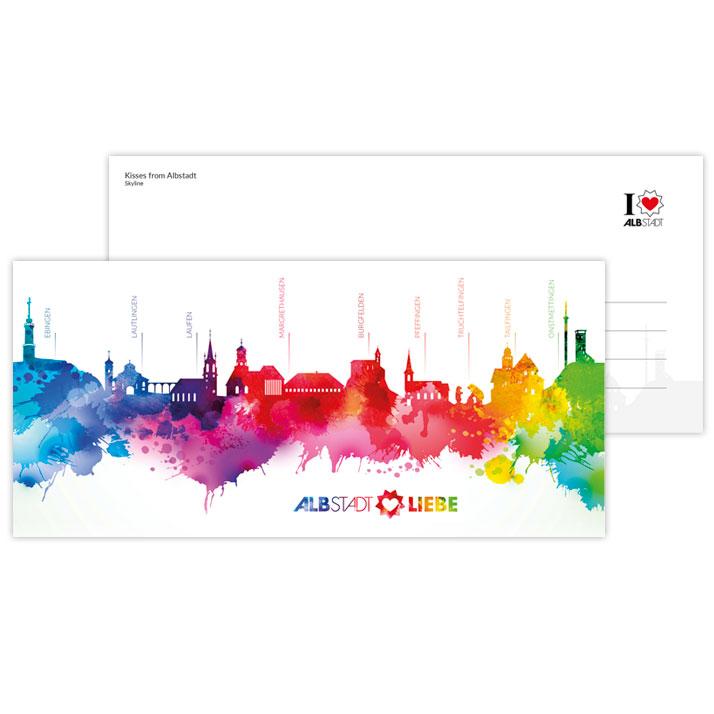 Albstädter Skyline als Postkarte