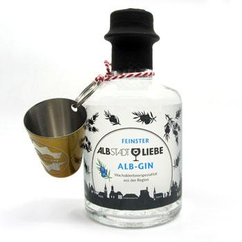 Alb-Gin 0,2 Liter mit Schnapsbecherle