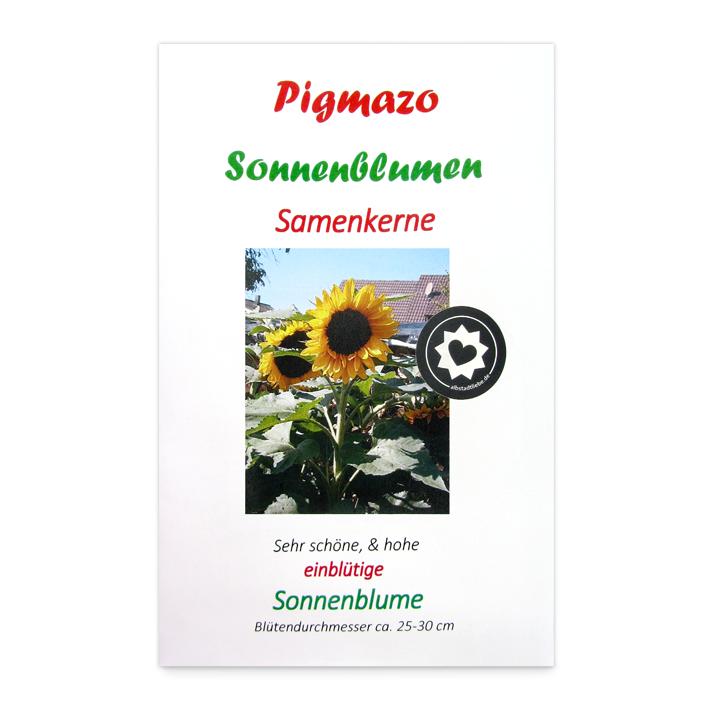 Pigmazo Sonnenblumen Samenkerne einblütig bei AlbstadtLiebe