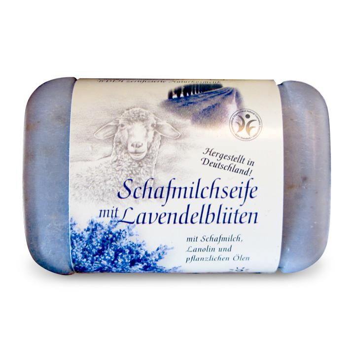 Schafmilchseife mit Lavendelblüten von Saling Naturprodukte