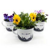 Unser Emaillebecher kommt immer gut an, besonders mit Blumen!