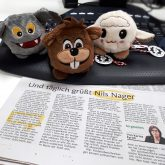 """Zeitungsbericht über """"Nils Nager"""""""