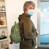 Das passt zusammen: unser Filztäschle als Rucksack-Accessoire