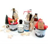 Becher, Gin, Tee und Bierbrezel fürs Weihnachtsmärktle 2019