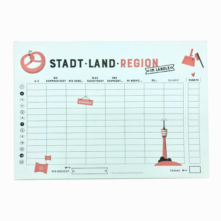 Stadt – Land – Region – im Ländle: Einzelbogen