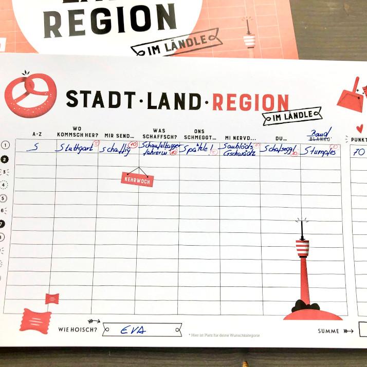 Stadt – Land – Region – im Ländle: Spielbeispiel